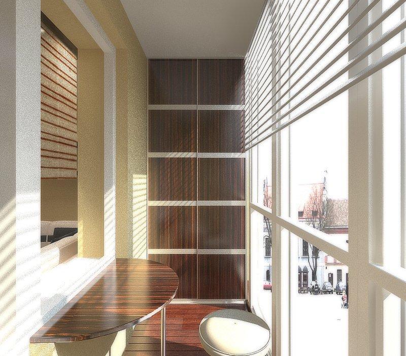 шкаф на балкон встроенный или обычный экономим место с умом