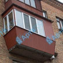 Отделка балкона профнастилом снаружи Арта Груп - фото 2