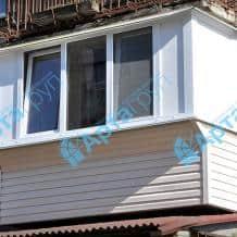 Отделка балкона сайдингом снаружи Арта Груп - фото 1