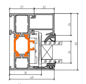 Схема двери из алюминия Арта Груп -фото 5
