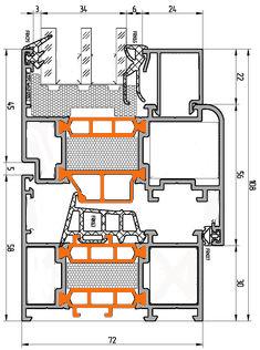 Схема двери из алюминия Арта Груп -фото 6