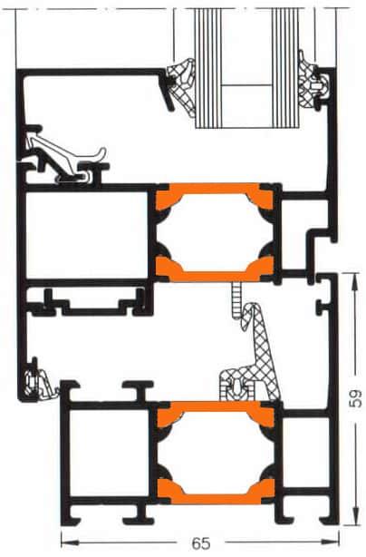 Схема двери из алюминия Арта Груп -фото 11