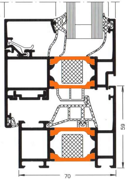 Схема двери из алюминия Арта Груп -фото 12