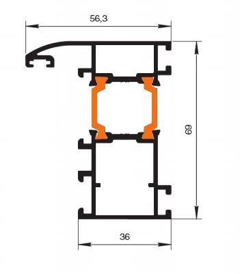 Схема двери из алюминия Арта Груп -фото 10