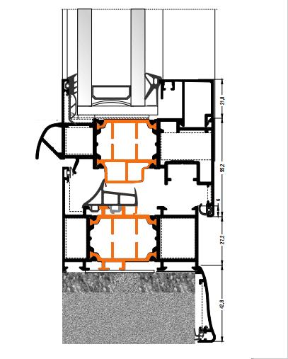 Схема двери из алюминия Арта Груп -фото 3