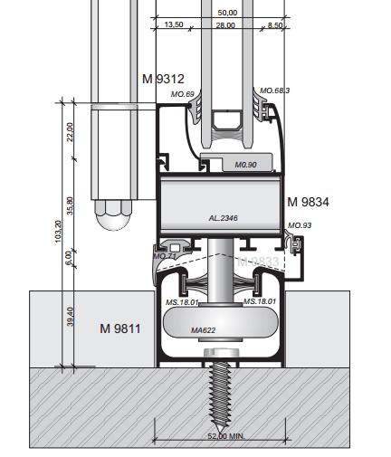 Схема Дверь гармошка Арта Груп -фото 2