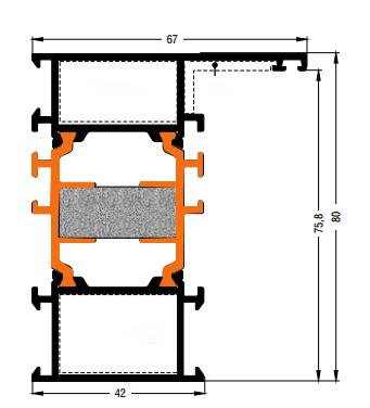 Схема двери из алюминия Арта Груп -фото 4