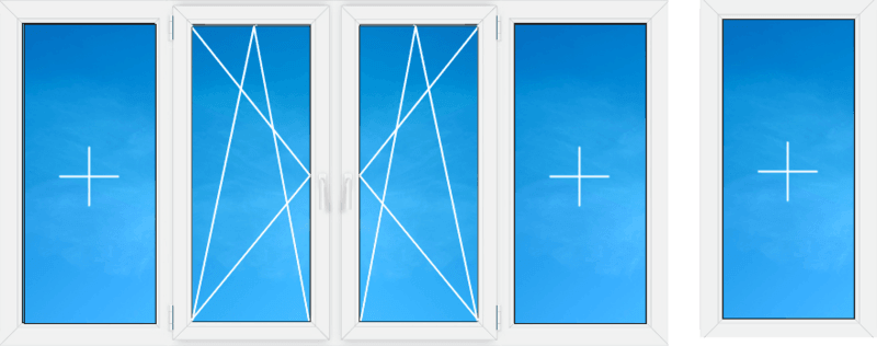 схема остекления балкона фото