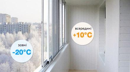 Холодне скління балкону